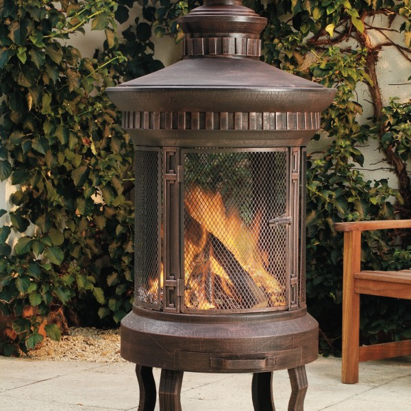 Lifestyle Prestige Fire Pit Patio Heater With Stand And Lid