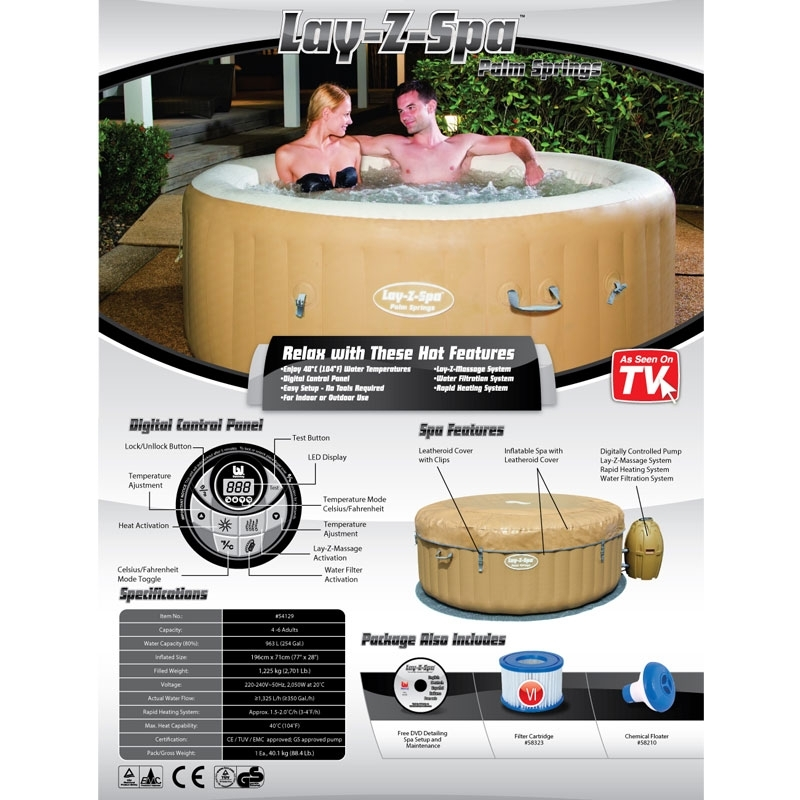 Bestway Lay Z Spa Palm Springs Inflatable Hot Tub5 Patio