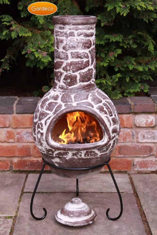 Gardeco Large Cantera Mexican Chiminea Lid Stand Patio Life