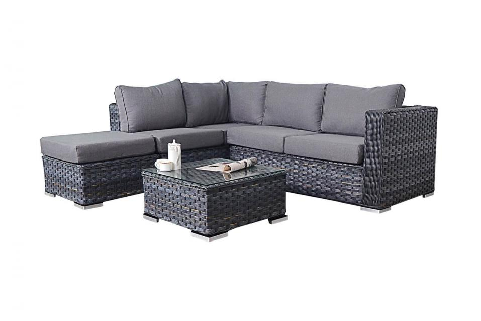 Platinum Rattan Small Corner Sofa amp Coffee Table Patio Life : platinum grey small corner 2 from patio-life.co.uk size 957 x 638 jpeg 42kB