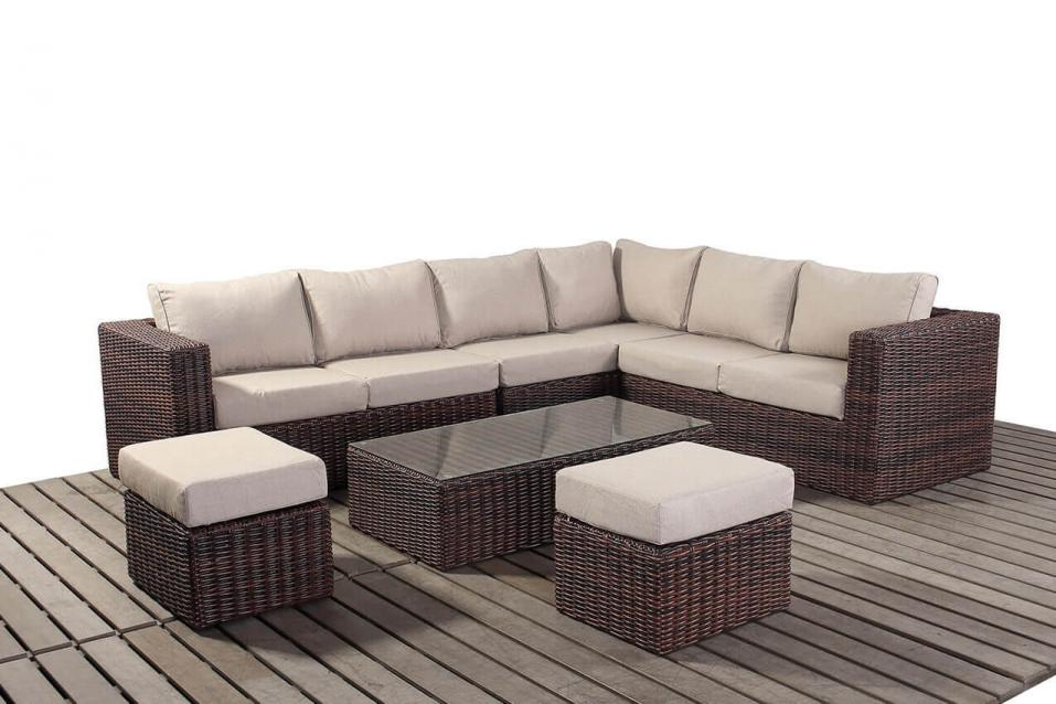 windsor rattan large corner sofa set right patio life. Black Bedroom Furniture Sets. Home Design Ideas