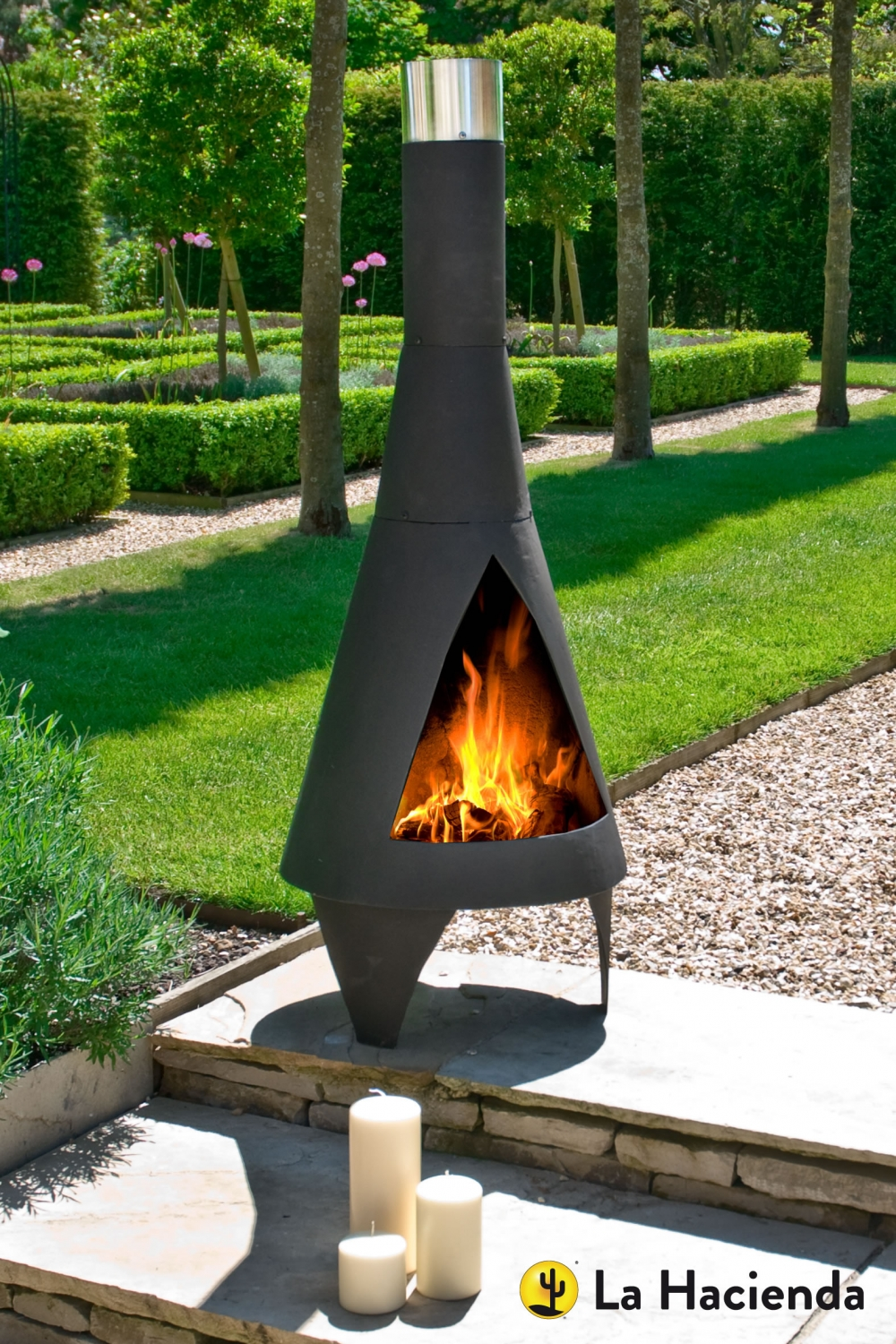 La Hacienda Colorado Medium Steel Chiminea Patio Life