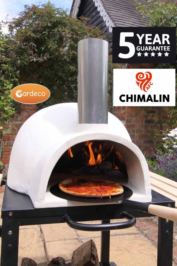 Gardeco Pizzaro Chimalin Afc Pizza Oven In Clay With