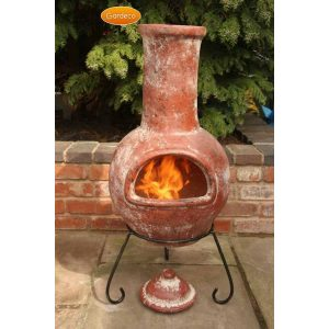 Clay Chimenea Brown Garden Sculpture Patio Heater Clay Chiminea Garden Art Fire