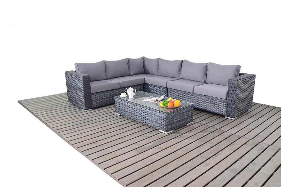 Grey Rattan Garden Furniture Uk Patio life platinum rattan grey large corner sofa coffee table platinum rattan grey large corner sofa coffee table workwithnaturefo