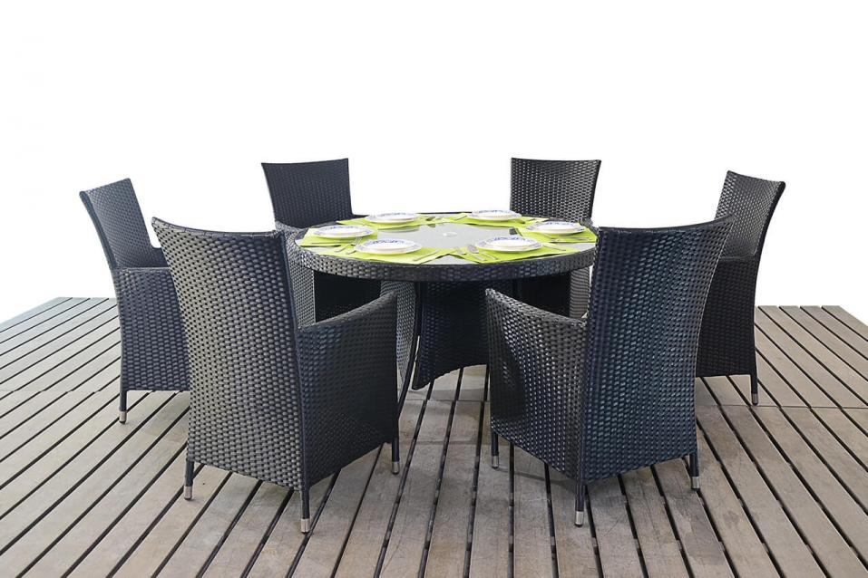 Prestige Rattan Round Dining Table Amp 6 Chairs Patio Life