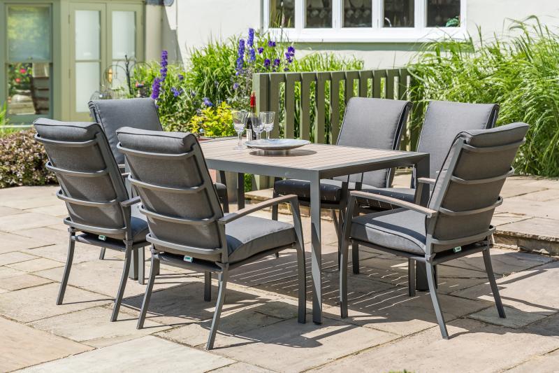 LG Outdoor Milan Aluminium 6 Seater Dining Set | Patio Life